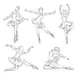 Beautiful ballerina hand drawn vector Stock Photo
