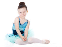 Beautiful ballerina isolated on white Stock Images