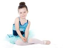 Beautiful ballerina isolated on white Stock Images