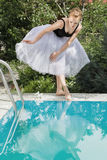 Beautiful ballerina outdoor Stock Photos