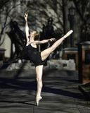 Beautiful Ballerina In The Park Stock Images
