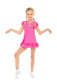 Beautiful ballerina in pink dress royalty free stock photography