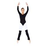 Beautiful ballerina practising her ballet Royalty Free Stock Image
