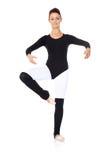 Beautiful ballerina practising her ballet Royalty Free Stock Photography