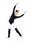 Beautiful ballerina practising her ballet Royalty Free Stock Images