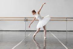 Beautiful ballerina rehearsal in ballet class Royalty Free Stock Photo