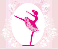 Beautiful ballerina - vintage frame Stock Image