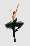 Beautiful ballerina wearing black Royalty Free Stock Photography