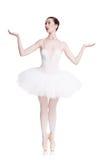 Beautiful ballerine dance in ballet position Stock Photography