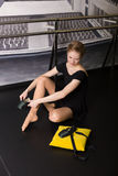 Beautiful ballet dancer royalty free stock photo