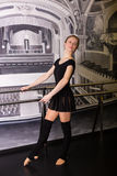 Beautiful ballet dancer royalty free stock photography