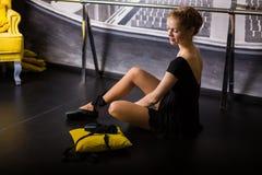 Beautiful ballet dancer stock photo