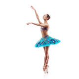Beautiful ballet dancer isolated Royalty Free Stock Images