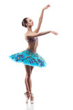 Beautiful ballet dancer isolated Stock Images