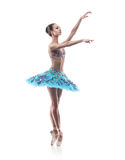 Beautiful ballet dancer isolated Royalty Free Stock Photography