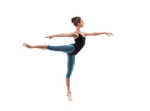 Beautiful ballet dancer isolated Stock Photo