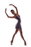 Beautiful ballet dancer isolated Stock Image