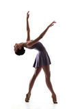 Beautiful ballet dancer isolated. Beautiful woman ballet dancer isolated on white background Stock Photo