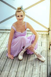 Beautiful ballet dancer at the lake Stock Photography