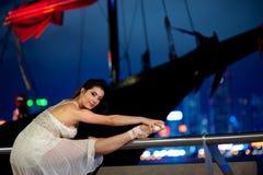 Beautiful ballet dancer outdoors Stock Photo