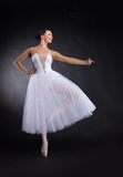 Beautiful ballet dancer standing on one foot. Stock Image