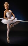 Beautiful ballet student practicing Royalty Free Stock Images