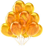 Beautiful ballons yellow translucent Royalty Free Stock Photo