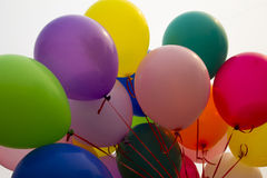 Beautiful balloons, celebration, bright colors Royalty Free Stock Image