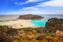 Beautiful Balos beach on Crete Stock Photo