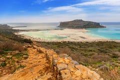 Beautiful Balos beach on Crete Royalty Free Stock Image