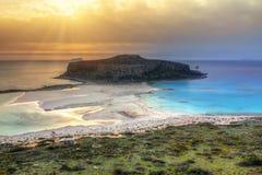Beautiful Balos beach on Crete Stock Photos