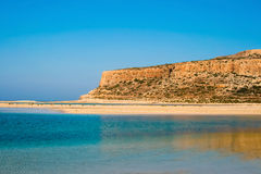 Gramvousa island and Balos Lagoon on Crete Stock Image