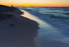 Beautiful Baltic sea beach at sunset Royalty Free Stock Image