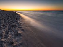Beautiful Baltic sea beach at sunset Royalty Free Stock Images