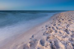 Beautiful Baltic sea beach at sunset Royalty Free Stock Image