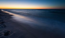 Beautiful Baltic sea beach at sunset Royalty Free Stock Photo