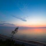 Beautiful Baltic sea coast landscape at sunset Stock Image