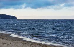 Beautiful Baltic Sea near Sopot in Poland. The beautiful Baltic Sea near Sopot in Poland royalty free stock images