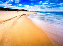 Beautiful Baltic shore in spring Stock Photo
