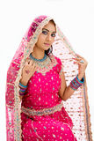 Beautiful Bangali bride Royalty Free Stock Photos