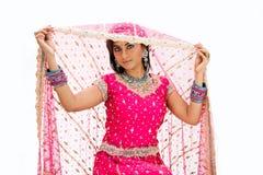 Beautiful Bangali bride stock photo