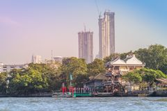 Beautiful Bangkok cityscape view from Chao Phraya River. Bangkok is the capital and most populous city of the Kingdom of Thailand,. Beautiful Bangkok downtown stock photography
