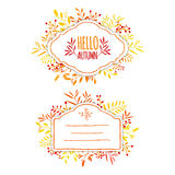 Beautiful banner, card, invitation or label Royalty Free Stock Photos