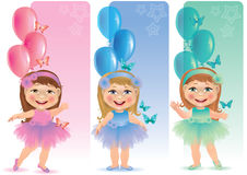 Beautiful banner with cute little girl Stock Photo
