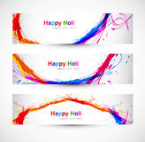 Beautiful banner and header set design Royalty Free Stock Images