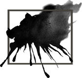 Beautiful banner ink stain Royalty Free Stock Photos