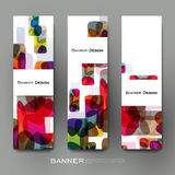 Beautiful banner vector template with abstract background Stock Photography