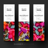 Beautiful banner vector template with abstract background Royalty Free Stock Image