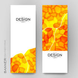 Beautiful banner vector template with abstract background Stock Images