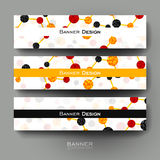 Beautiful banner vector template with DNA molecule background Stock Photo